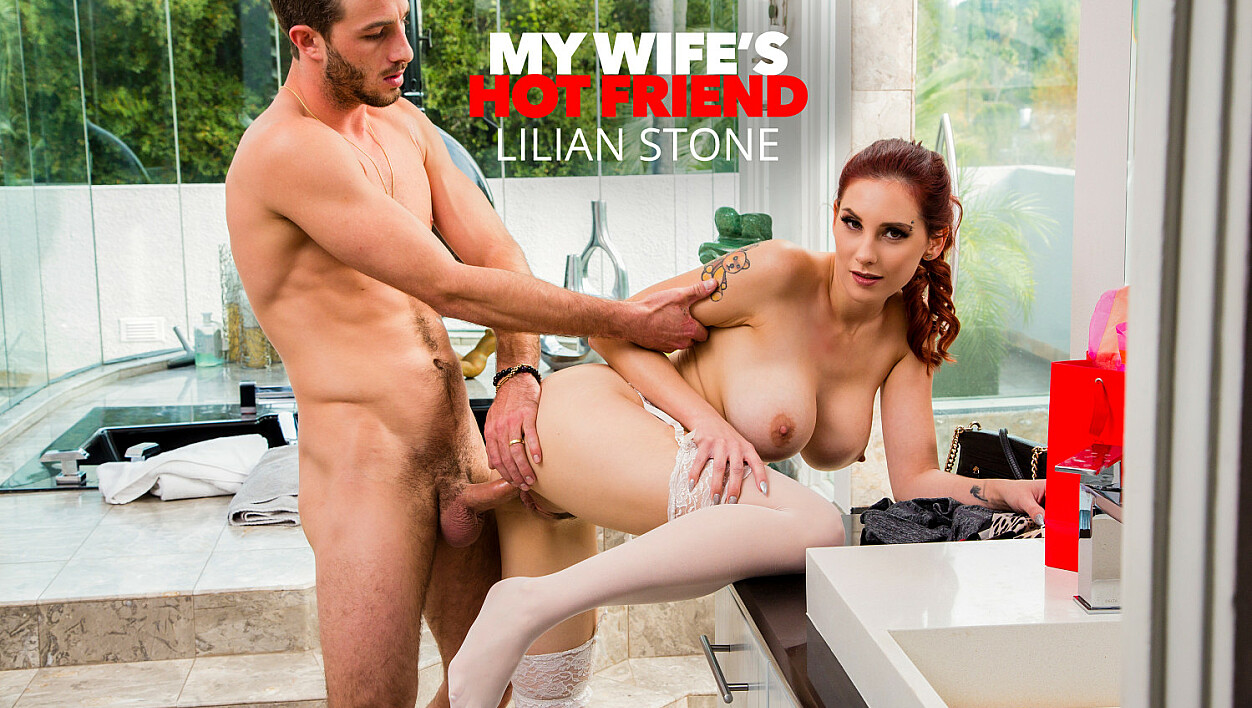 Lilian Stone tries on her friend's lingerie and gets caught by the husband