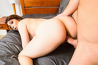 Nina Skye fucking in the bedroom with her green eyes - Sex Position 3