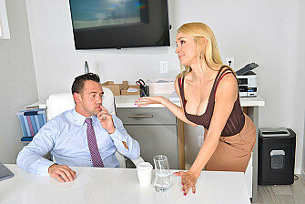 Employee Sarah Vandella fucking in the with her tits - Sex Position 1