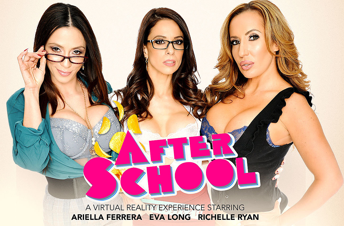 Watch Ariella Ferrera, Eva Long, Richelle Ryan and Dylan Snow VR video in Naughty America