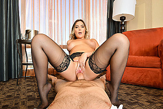 Blair Williams fucking in the chair with her medium tits - Sex Position 4
