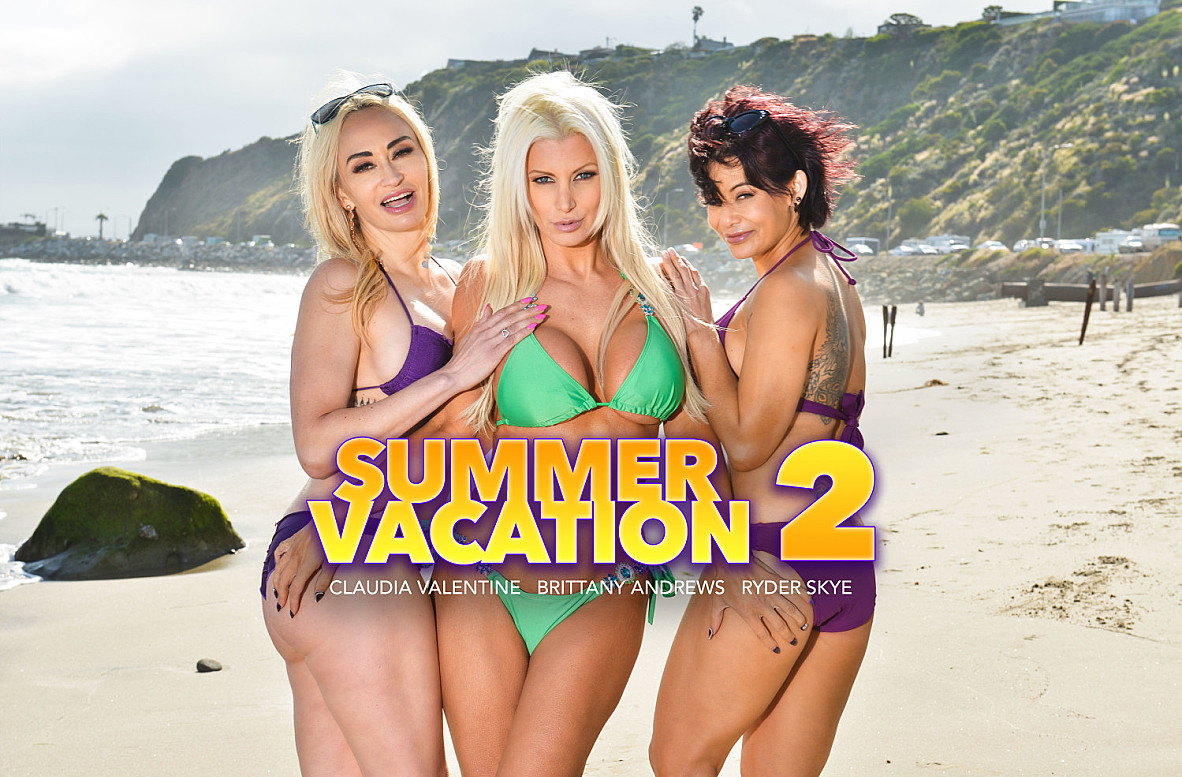 Watch Brittany Andrews, Claudia Valentine, Ryder Skye and Bambino VR video in Naughty America