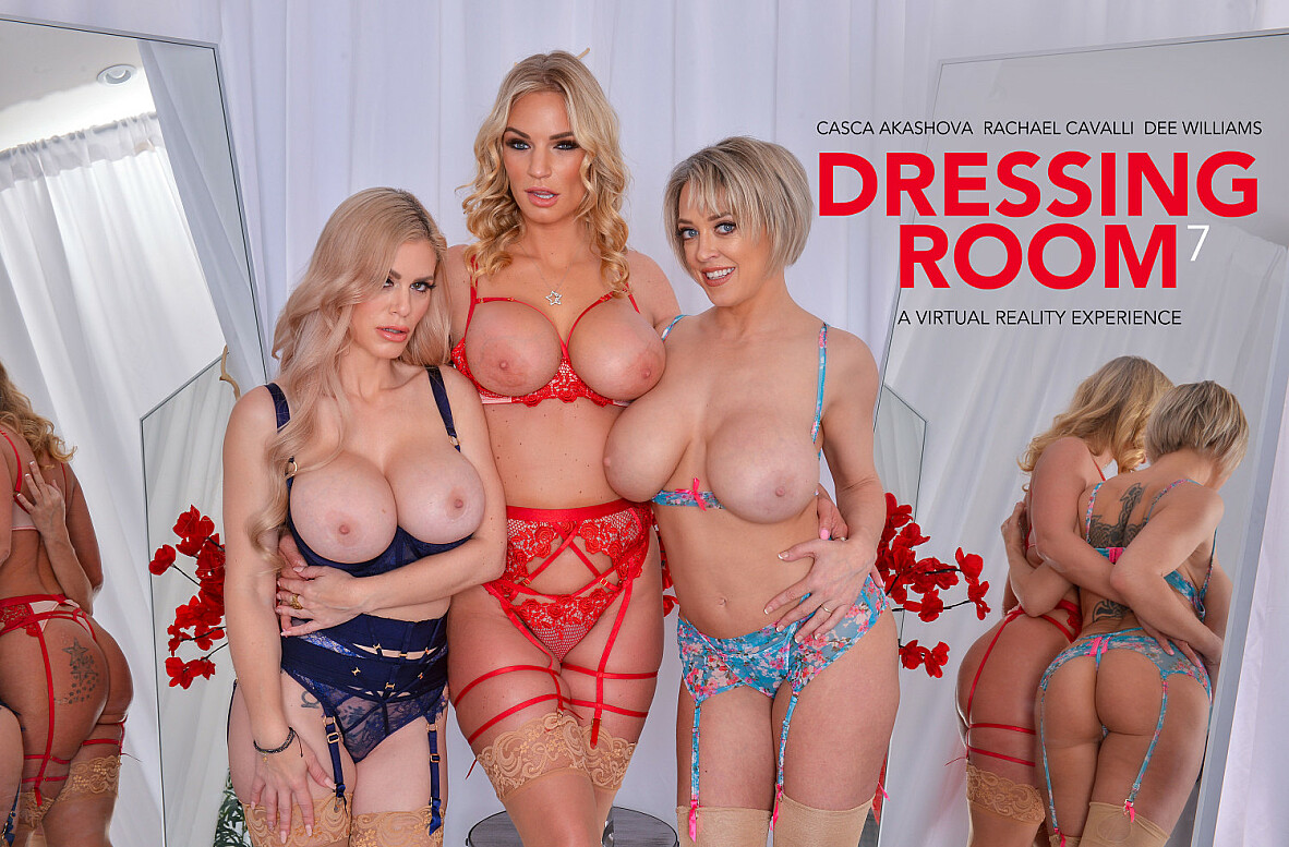 Watch Casca Akashova, Dee Williams, Rachael Cavalli and Alex Mack VR video in Naughty America