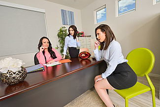Office Anal Session with Casey Calvert, Jane Wilde, and Jennifer White - Sex Position 1