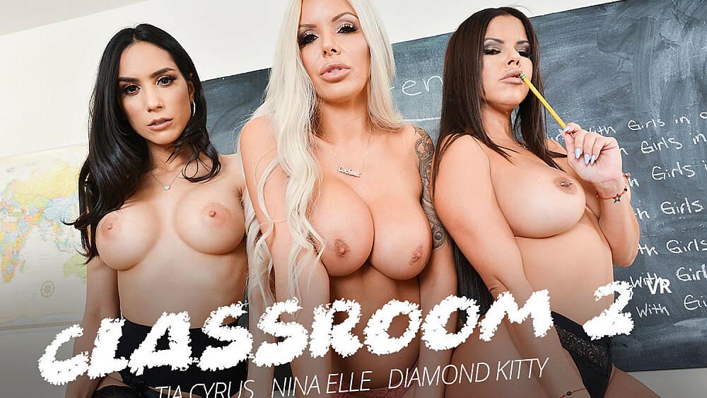 Click here to play Detention time with Diamond Kitty, Nina Elle, and Tia Cyrus VR porn