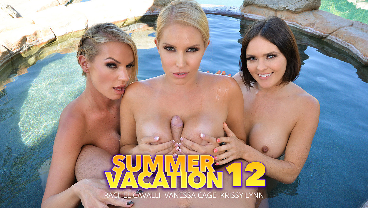 Naughty America Vacation with 3 sexy babes in bikinis!
