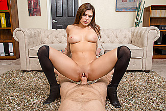 Leah Gotti fucking in the chair with her hazel eyes - Sex Position 3