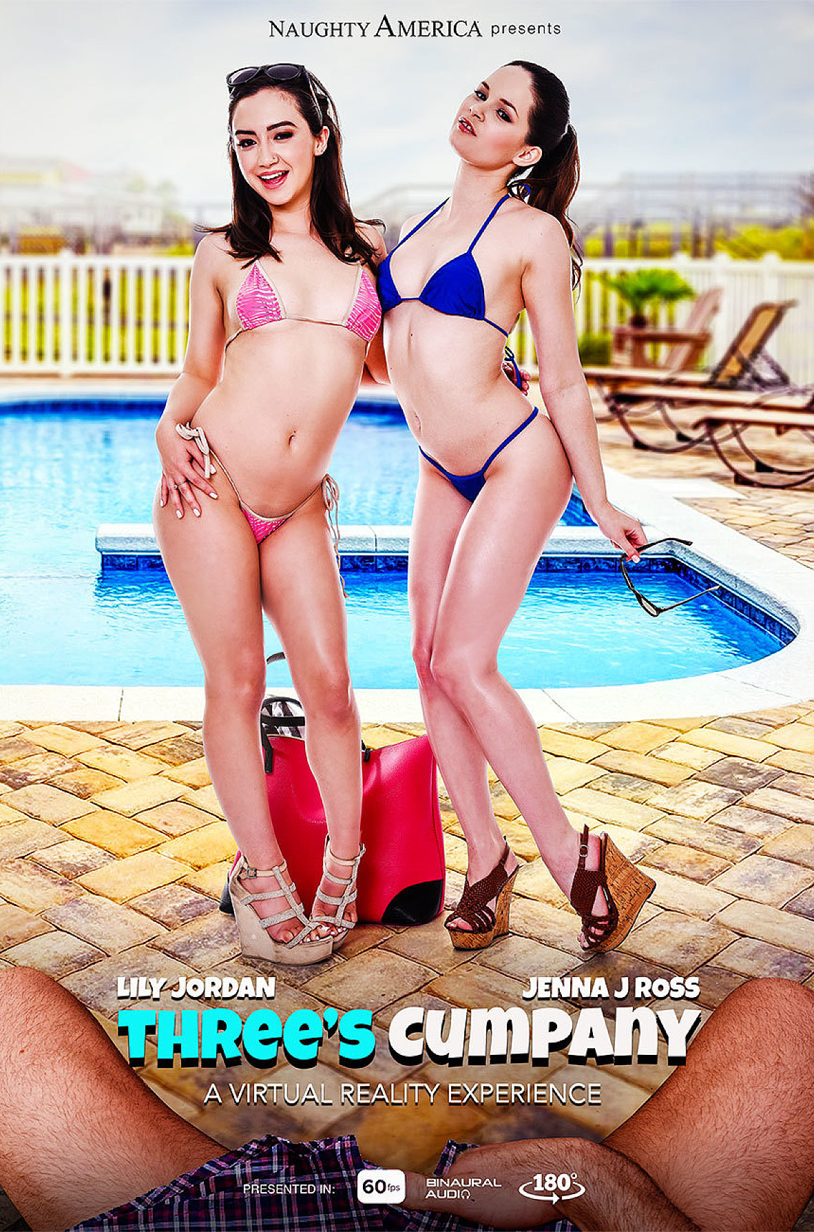 Watch Jenna J Ross, Lily Jordan and Charles Dera VR video in Naughty America