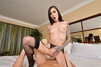 Marley Brinx Fucks you in her hotel room in VR  - Sex Position 3