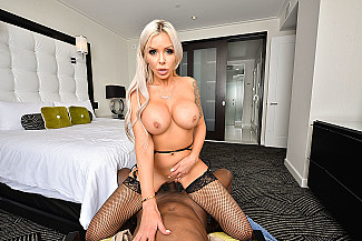 Nina Elle takes your big black dick hard and long in VR Porn - Sex Position 3