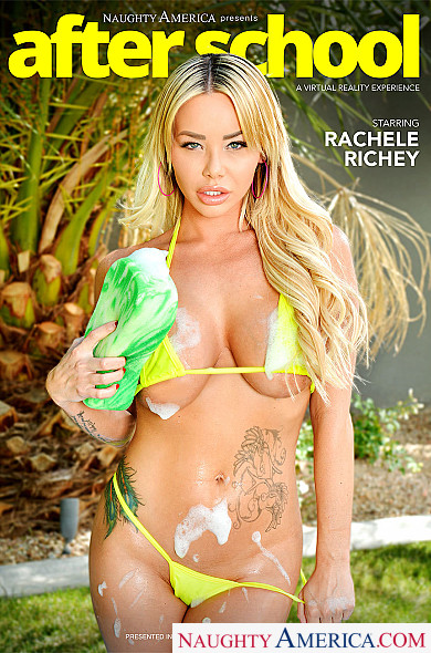Watch Rachele Richey enjoy some American and Big Natural Tits!