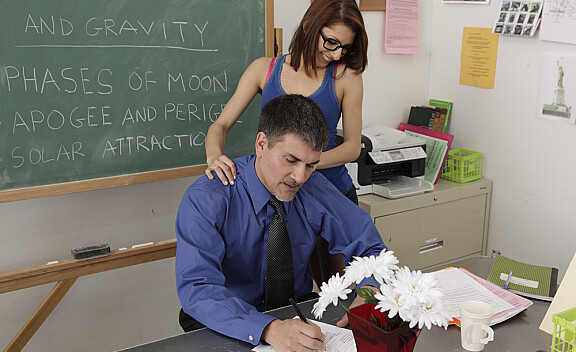 Lexi Bloom fucking in the classroom with her tattoos - Sex Position #2