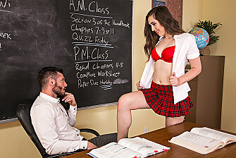 Lexi Lovell fucking in the classroom with her medium ass - Sex Position 1