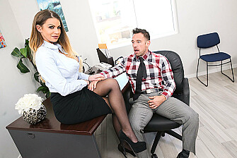 Brooklyn Chase Fucks Her Coworker  - Sex Position 1