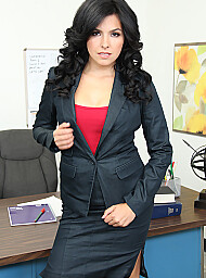 Co-worker Porn Video with Average Body and Black Hair scenes