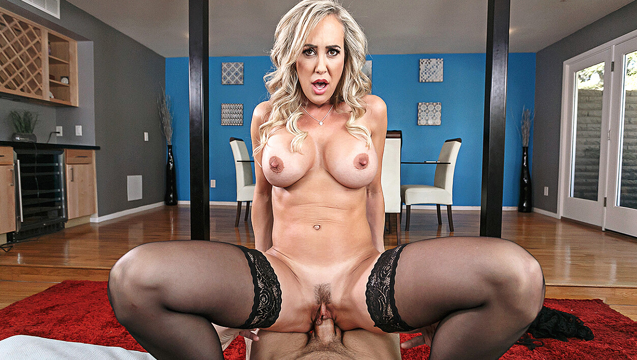 Brandi Love fucking in the couch with her lingerie