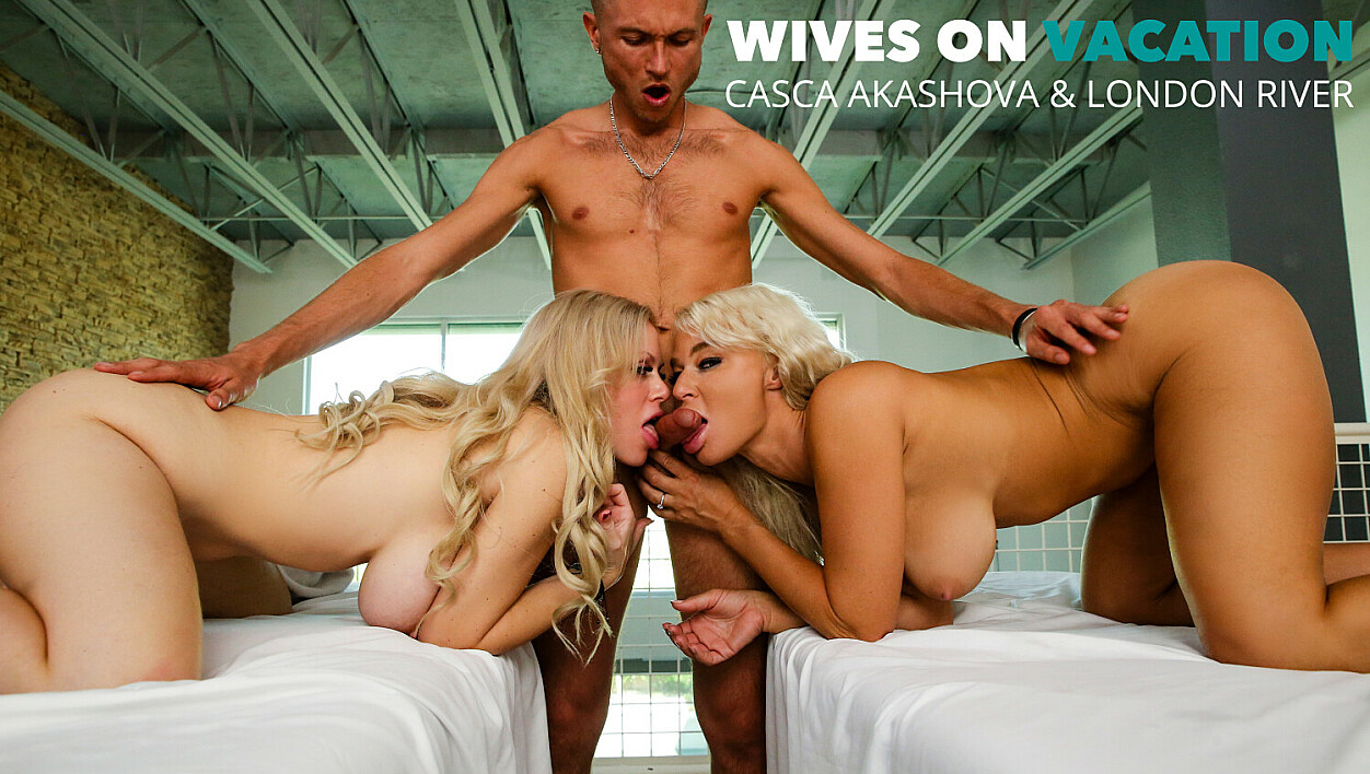 Casca Akashova and London River get a full service from their masseur