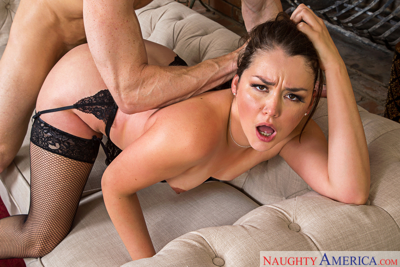 American Allie Haze Fucking In The Couch With Her Tattoos Blowjob