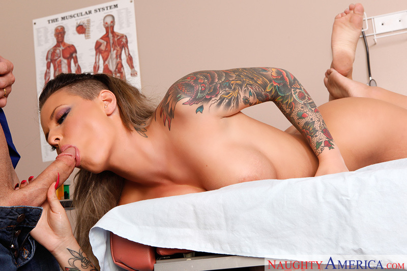 Christy Mack fucking in the doctor's office with her tattoos - Sex Position 2