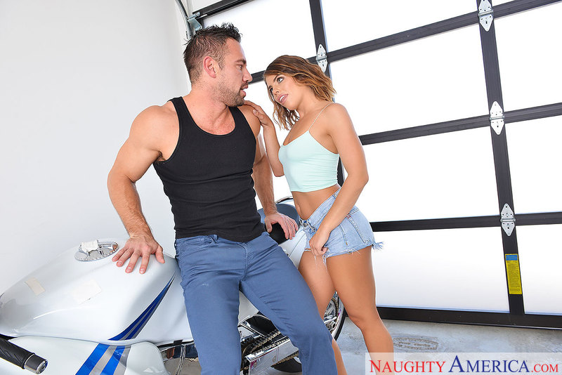 Adriana Chechik fucking in the garage with her athletic body - Sex Position 1