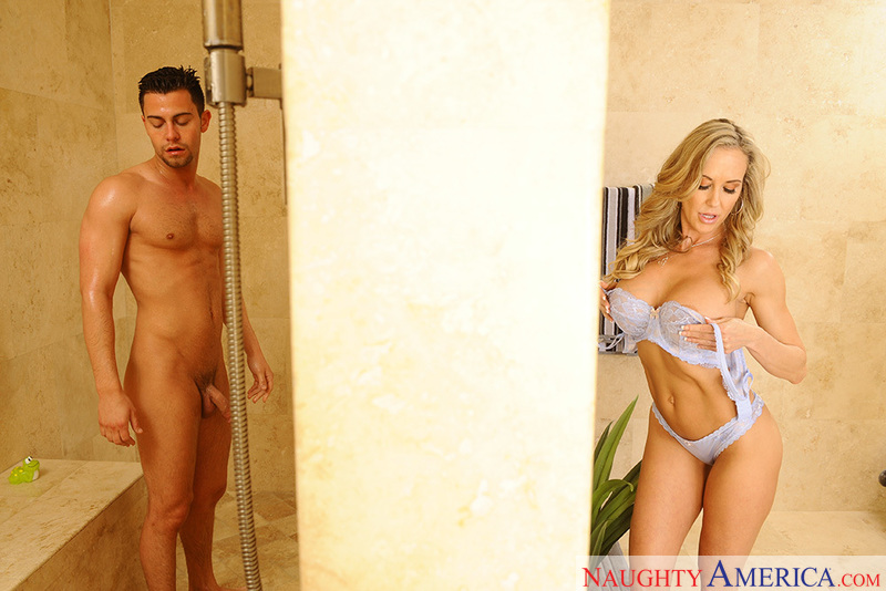 in love shower sex and hot Brandi