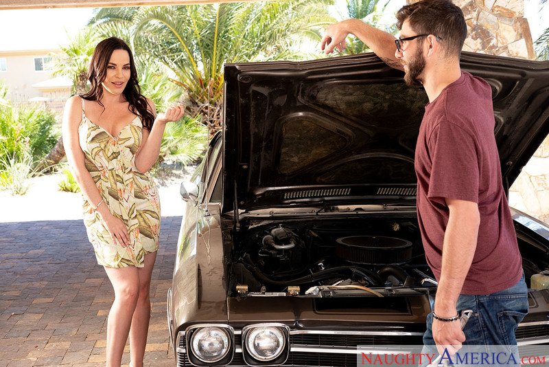 A big dick gets horny MILF Dana DeArmond's motor going! - Sex Position 1
