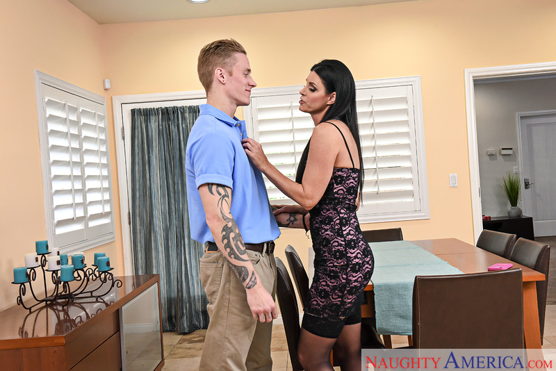 India Summer fucking in the bedroom with her tattoos - Sex Position 1