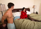 Family friend Kendra Lust fucking in the bed with her petite - Blowjob