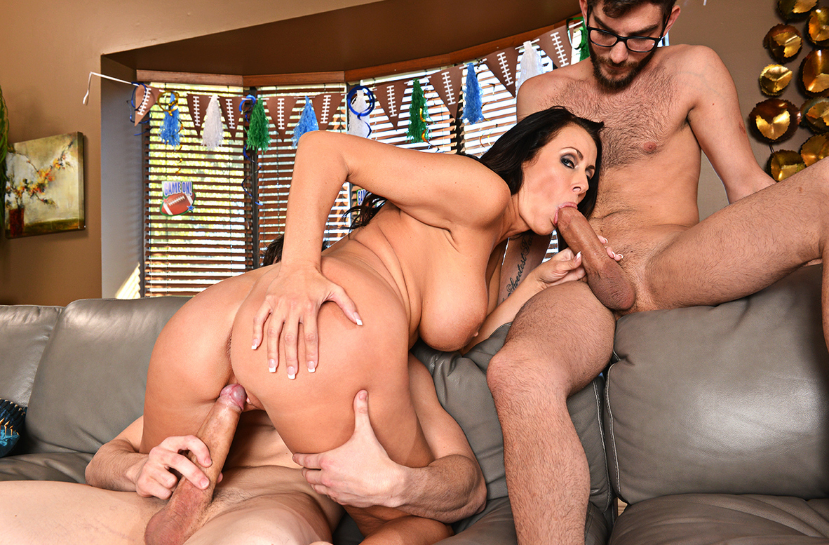 Watch Reagan Foxx, Alex D. and Logan Long 4K video in My Friend's Hot Mom