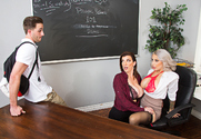 Alyssa Lynn & Sara Jay & Lucas Frost in My First Sex Teacher