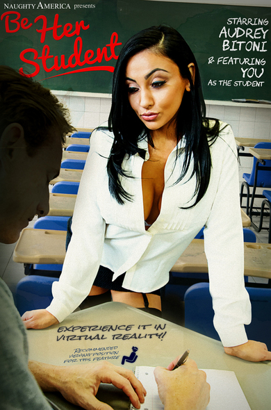 Audrey Bitoni, your first sex teacher, will ride your cock into recess!