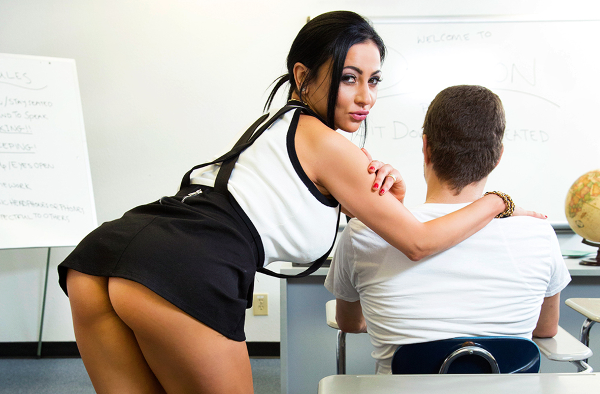 Watch Audrey Bitoni and Xander Corvus VR video in My First Sex Teacher
