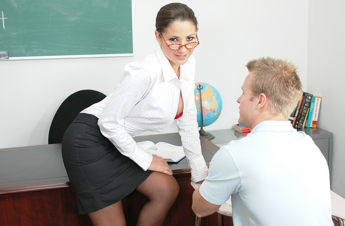 Watch Baby Jayne and Jeremey Holmes video in My First Sex Teacher