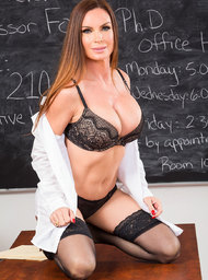 MILF & Professor Porn Video with Big Fake Tits and Big Tits scenes