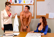 Syren De Mer & Eva Notty & Chad White in My First Sex Teacher
