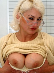 MILF & Professor Porn Video with Big Natural Tits and Blonde scenes