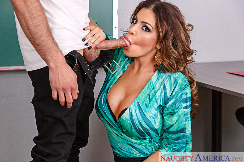 Nikki Capone fucking in the classroom with her tits - Sex Position 1