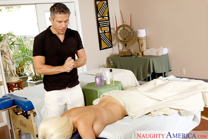 Jacky Joy fucking in the massage parlor with her big tits - Sex Position 1