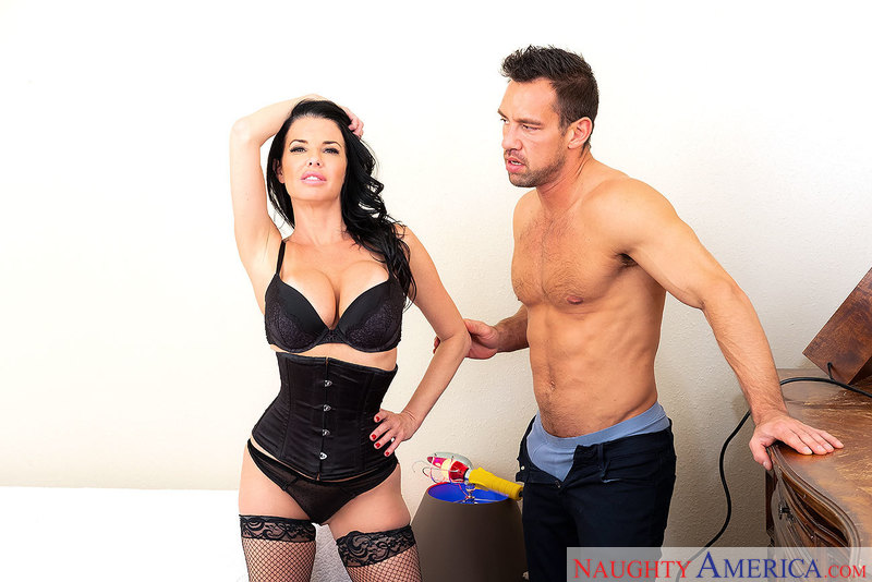 Veronica Avluv fucking in the bedroom with her black hair - Sex Position 1