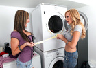 Friend Brett Rossi fucking in the laundry room with her tits - Sex Position 1