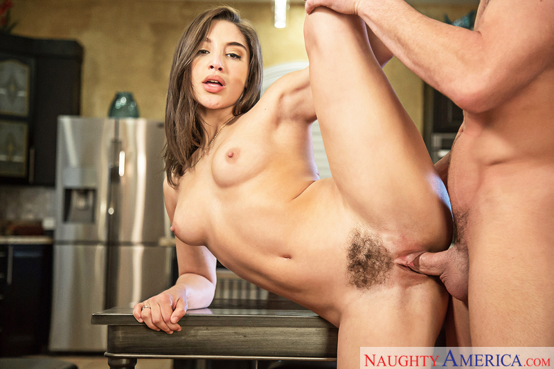 Abella Danger fucking in the table with her brown eyes - Sex Position 3