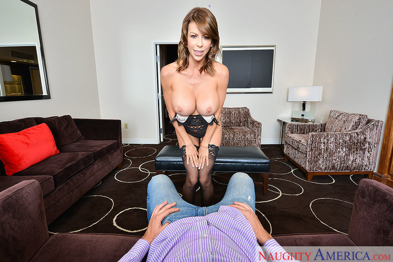 Stone cold Alexis Fawx heats it up in her VR porn experience - Sex Position 1