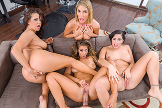 August Ames, Karlee Grey, Keisha Grey & Layla London - Sex Position 4