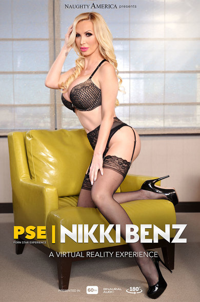 Nikki Benz fucking in the chair with her piercings vr porn