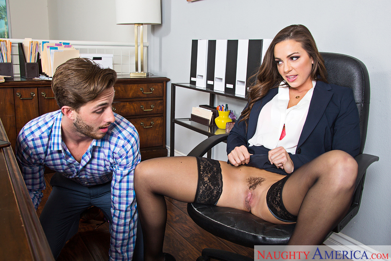 Abigail Mac fucking in the office with her outie pussy - Sex Position 1