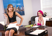 Anna Bell Peaks & Juelz Ventura & Ryan Driller in Naughty Office