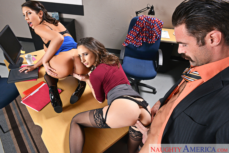 Ashley Adams fucking in the office with her brown eyes - Sex Position 2
