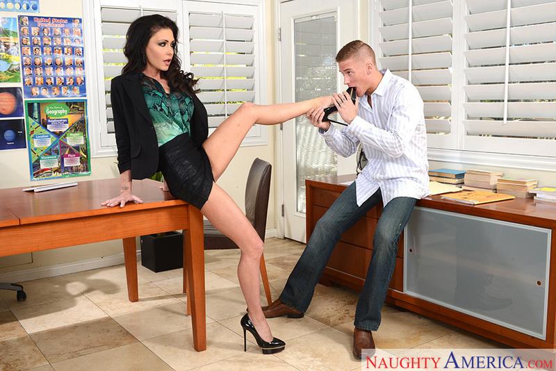 Long legs erotic model