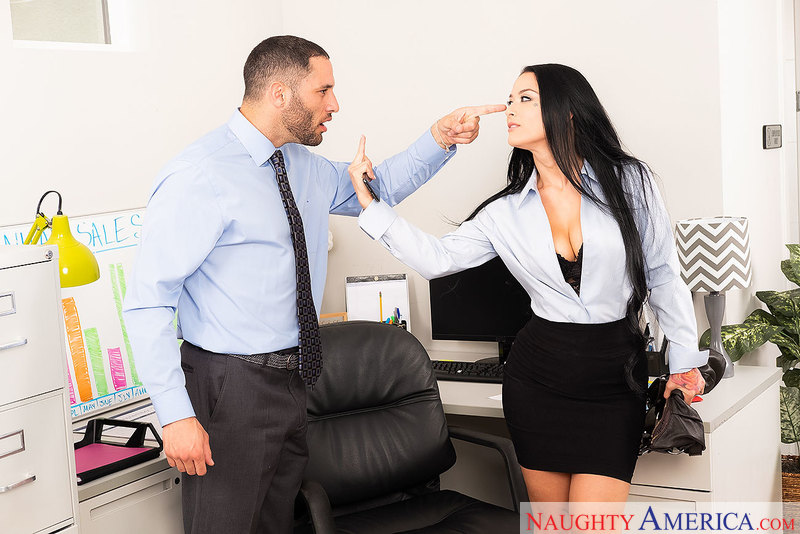 Office Orifice Katrina Jade's Holes Get Filled By Her Boss - Sex Position 1