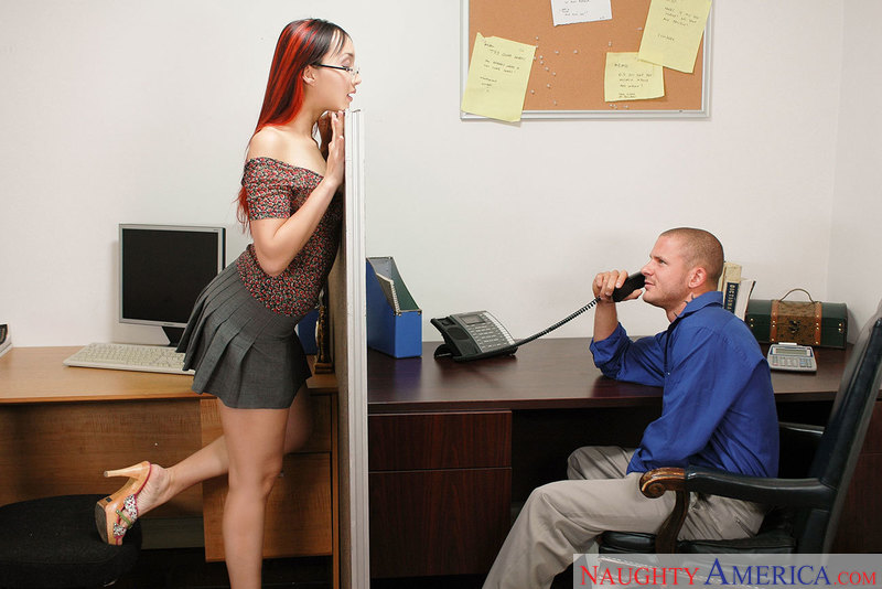Katsuni fucking in the office with her bubble butt - Sex Position 2